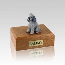 Poodle Grey Sport Cut Small Dog Urn