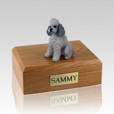 Poodle Grey Sport Cut X Large Dog Urn