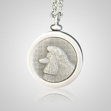 Poodle Pet Memory Keychain