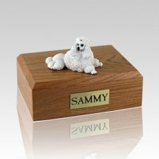 Poodle White Show Cut Dog Urns