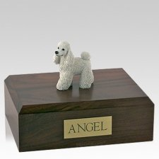 Poodle White Standing Dog Urns