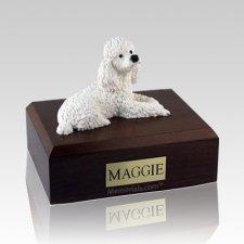 Poodle White X Large Dog Urn