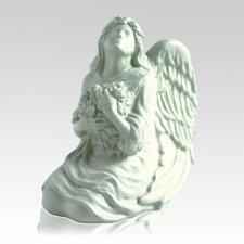 Porcelain Serenity Angel Keepsake Urn
