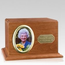 Portrait Wood Cremation Urn