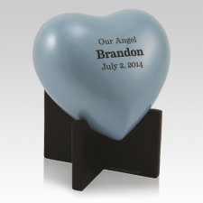 Powder Blue Keepsake Heart Urn