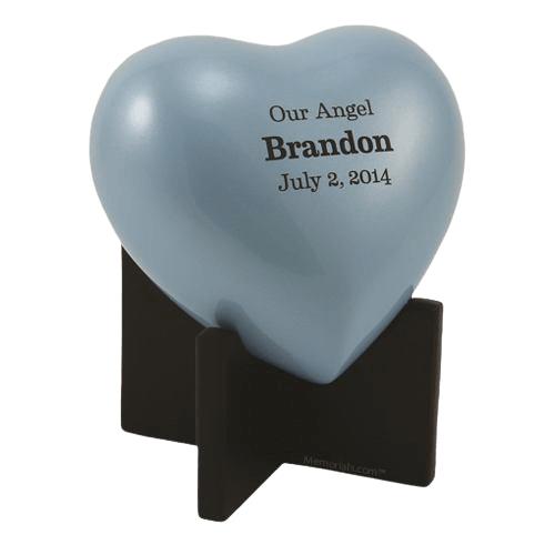 Powder Blue Keepsake Heart Urn