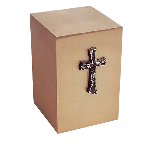 Praise Cross Bronze Cremation Urn