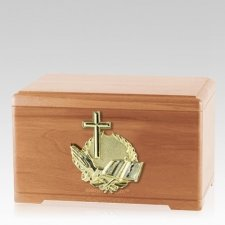 Prayer Light Cherry Cremation Urn