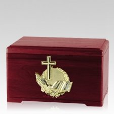 Prayer Rosewood Cremation Urn