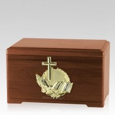 Prayer Walnut Cremation Urn