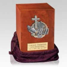 Prayer Wood Cremation Urn