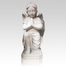 Praying Angel Granite Statue
