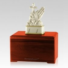 Praying Cherry Cremation Urn