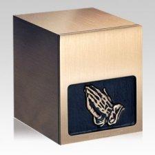 Praying Hands Bronze Cremation Urn