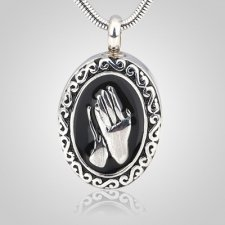 Praying Hands Cremation Pendant
