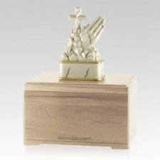 Praying Maple Cremation Urn