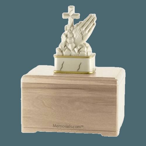 Praying Maple Cremation Urn