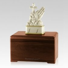 Praying Walnut Cremation Urn