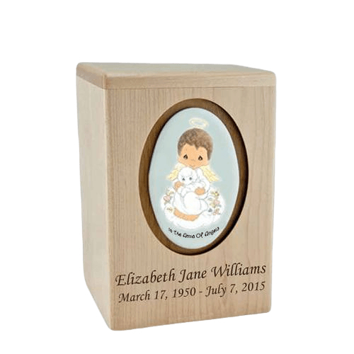Precious Moments African American Boy Small Child Urn