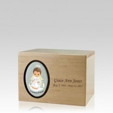 Precious Moments African American Boy Small Urn