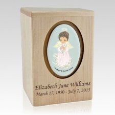 Precious Moments African American Girl Child Urn II