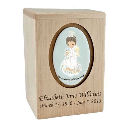 Precious Moments African American Girl Child Urn