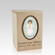 Precious Moments African American Girl Small Child Urn II