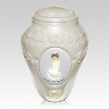 Precious Moments African American Girls Urn