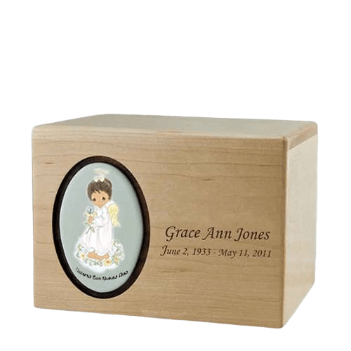 Precious Moments African American Girl Urn
