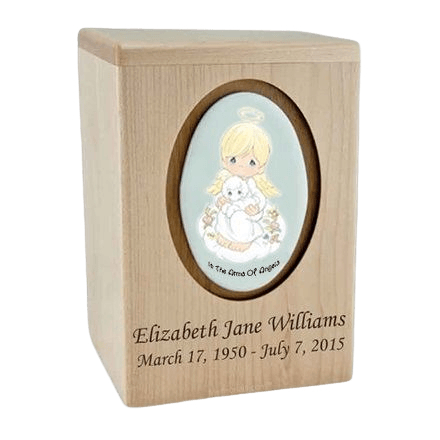 Precious Moments Blonde Boy Child Urns