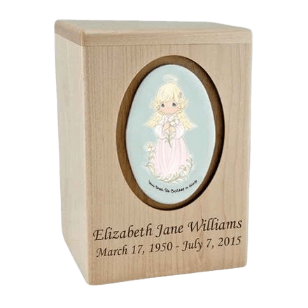 Precious Moments Blonde Girl Child Urn II
