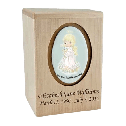 Precious Moments Blonde Girl Child Urn