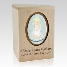 Precious Moments Blonde Girl Child Urns