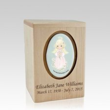 Precious Moments Blonde Girl Small Child Urn II
