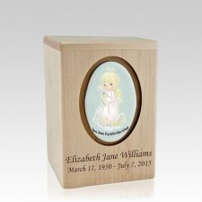 Precious Moments Blonde Girl Small Child Urn