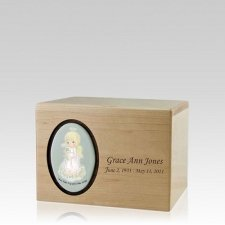 Precious Moments Blonde Girl Small Urn