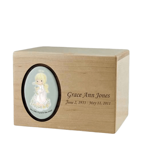 Precious Moments Blonde Girl Urn