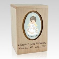 Precious Moments Brunette Boy Child Urn