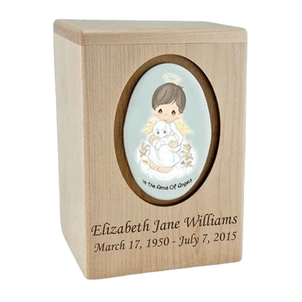 Precious Moments Brunette Boy Child Urns