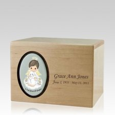 Precious Moments Brunette Boy Urn