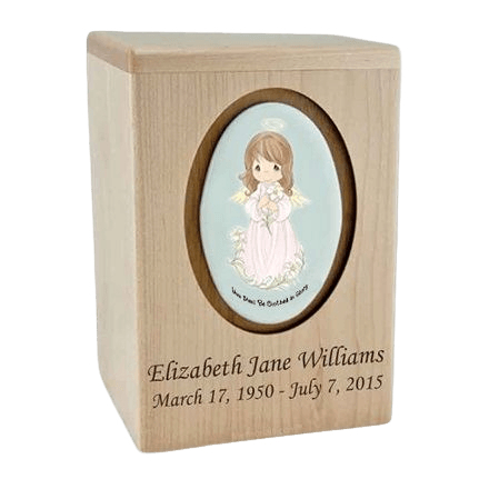 Precious Moments Brunette Girl Child Urn II