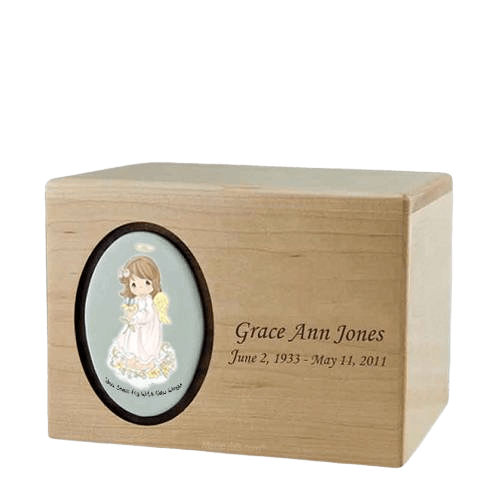 Precious Moments Brunette Girl Urn