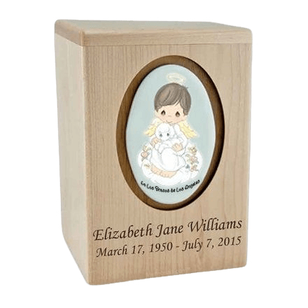 Precious Moments Hispanic Boy Child Urn