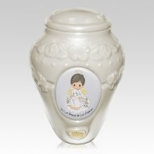 Precious Moments Hispanic Boy Urn