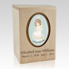 Precious Moments Hispanic Girl Child Urn