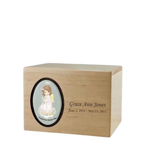 Precious Moments Hispanic Girl Small Urn