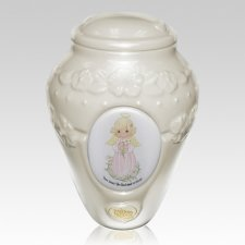 Precious Moments Caucasian Girl Urn II