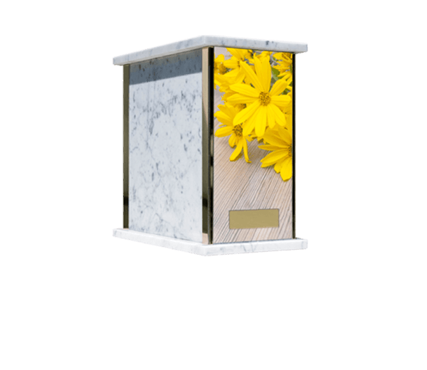 Prim Flowers Cremation Urn