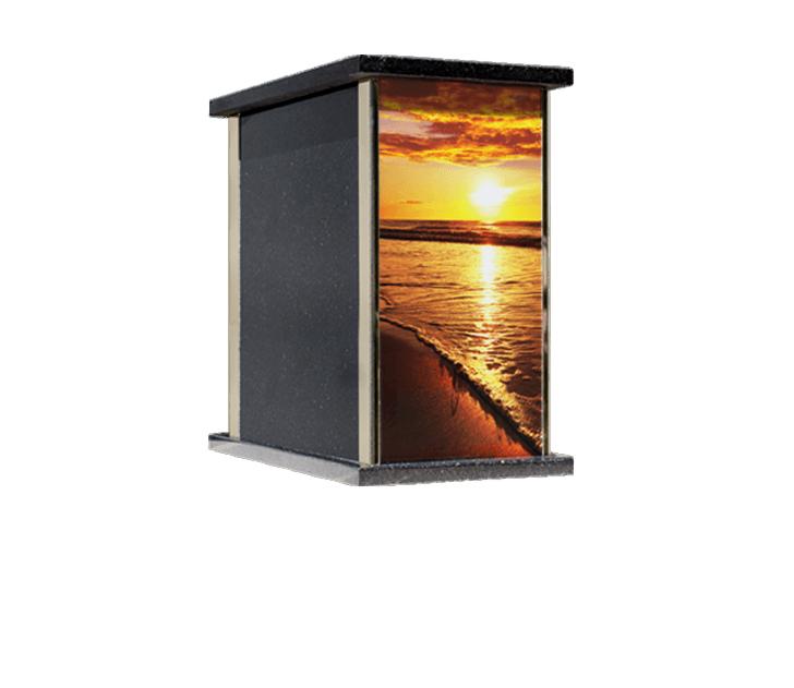 Prim Ocean Sunset Cremation Urn