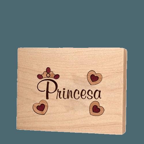 Princesa Recuerdo Urna de Madera para Ninos